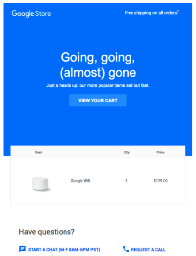 Ecommerce Marketing Strategy Google Abandoned Cart Workflow