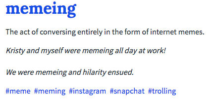 Memeing Definition