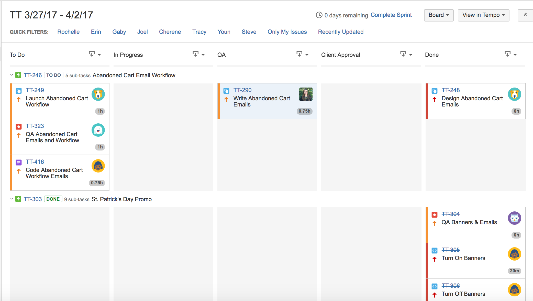 JIRA Scrum Boards for Marketing Projects