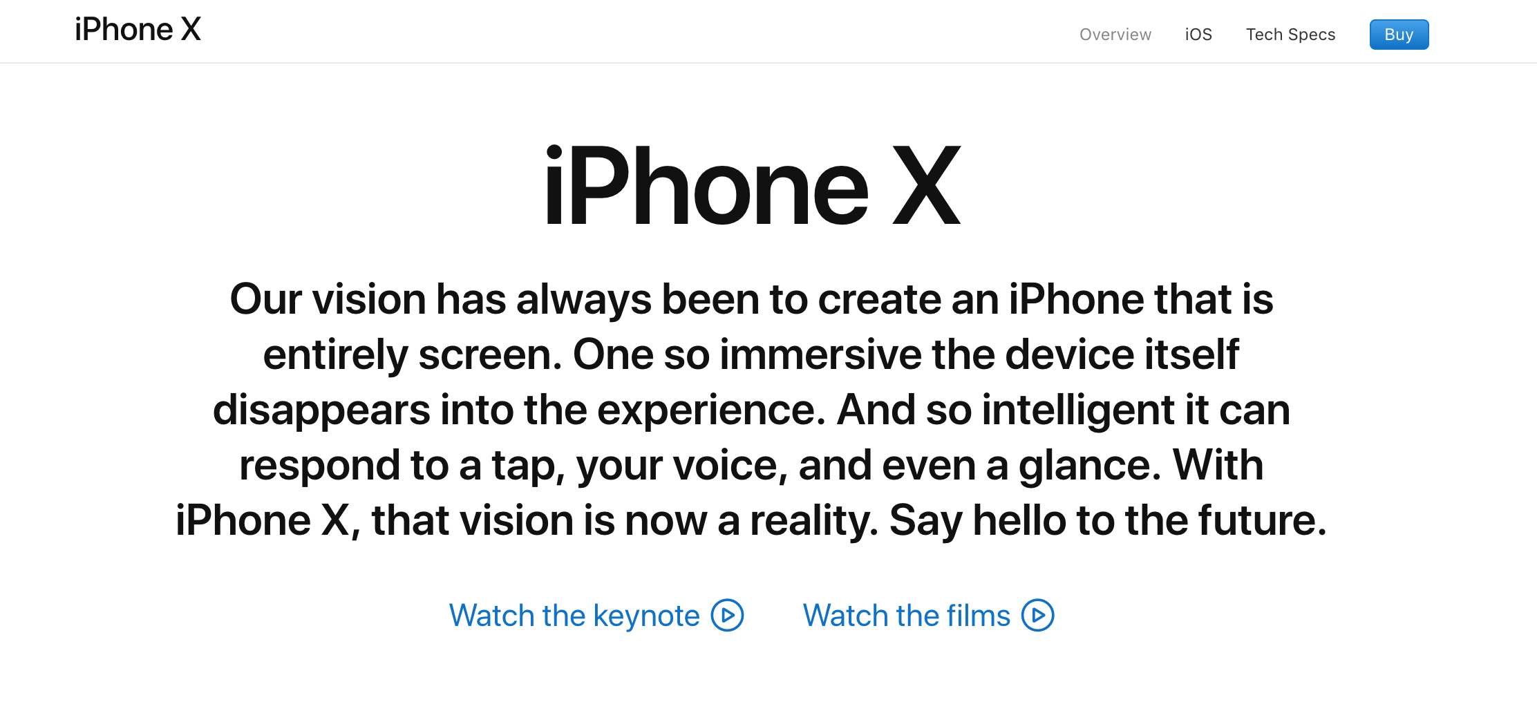 iPhone X Product Copy