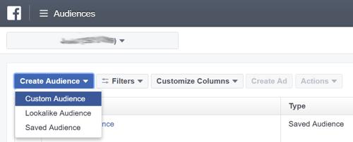 Facebook Marketing Tips: Retargeting Website Visitors Step 2