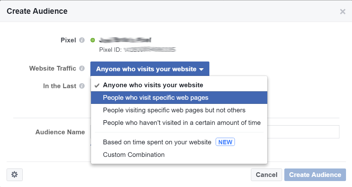 Facebook Marketing Tips: Retargeting Website Visitors Step 4