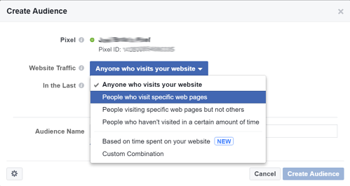 Facebook Marketing Tips: Retargeting Website Visitors Step 4