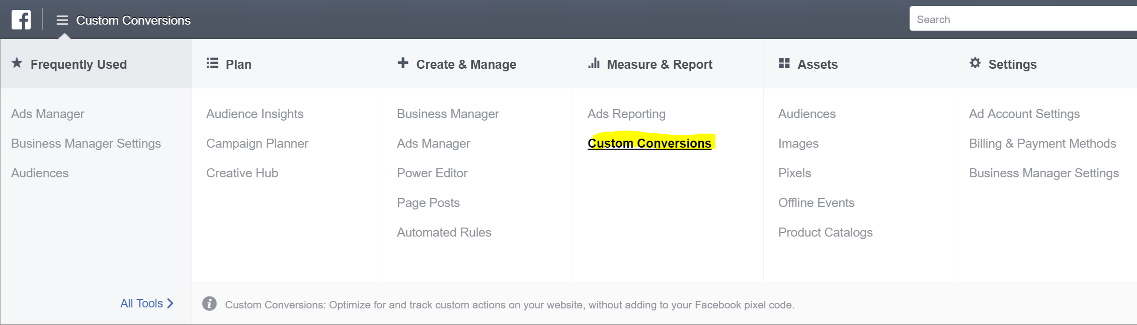 Facebook Marketing Tips: Tracking Conversions Step 1