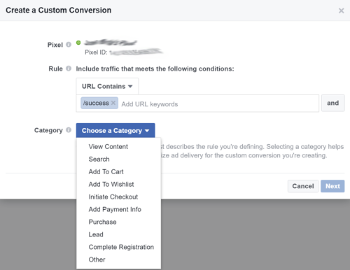 Facebook Marketing Tips: Tracking Conversions Step 2