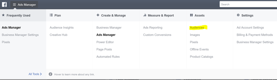 Facebook Marketing Tips: Retargeting Website Visitors Step 1